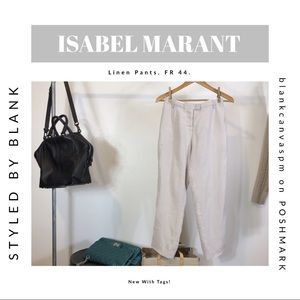 NEW Isabel Marant Linen Trousers